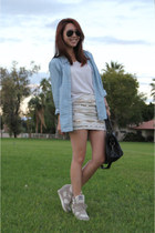balenciaga bag - Ray Ban sunglasses - English Rose skirt - ASH sneakers