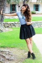 Topshop skirt - sam edelman boots - Zara necklace