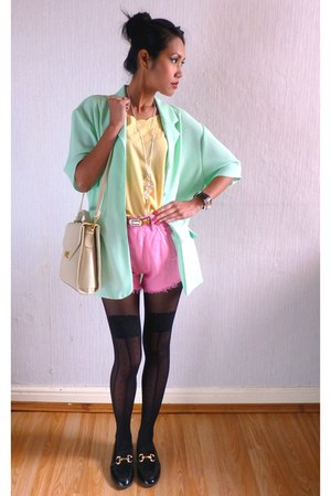 Mint Green Pastel colour Blazer from  our ebay shop blazer - structured bag Vint