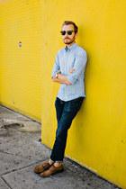 grandad asos watch - hyde oxford banana republic shoes - American Eagle jeans