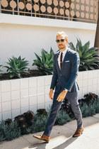 dogstooth asos suit - banana republic shoes - J Crew shirt
