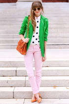 chartreuse Tea and Tulips jacket