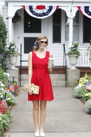 red Tea and Tulips dress