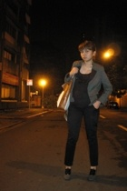 Zara blazer - Zara - Folded & Hung pants - Janylin shoes