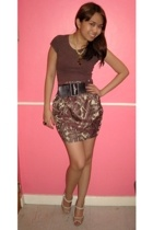 Topshop shirt - bazaar find skirt - Charles & Keith shoes