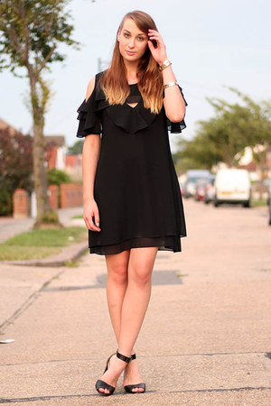black lbd mina dress - black heels next shoes