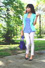 Mint-green-forever-21-blazer-purple-ralph-lauren-bag-stripe-bayo-top