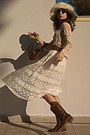 Ivory-lace-chicwish-skirt-brown-boots-ivory-hat-bronze-bag