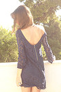 Navy-lace-zara-dress