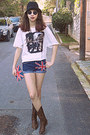 Red-union-jack-diy-bag-brown-cowboy-boots-navy-union-jack-diy-shorts