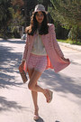 Light-pink-romwe-coat-white-flower-romwe-sweater-neutral-flower-bag
