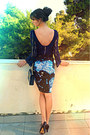 Navy-lace-zara-dress-sky-blue-galaxy-print-romwe-dress-navy-vintage-bag