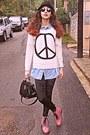 Pink-oasap-boots-white-peace-sign-romwe-sweater-black-velvet-romwe-leggings