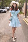 Aquamarine-ruched-oasap-dress-aquamarine-bag-cream-oxfords-chicwish-loafers