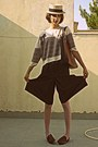 Brown-culotte-shorts-eggshell-pull-bear-sweater-burnt-orange-d-g-bag