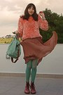 Pink-army-oasap-boots-salmon-fluffy-romwe-sweater-aquamarine-tights