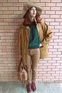 Brick-red-boots-tawny-vintage-coat-camel-h-m-hat-bronze-bag
