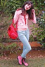 Pink-army-oasap-boots-red-vj-style-bag-aquamarine-pants