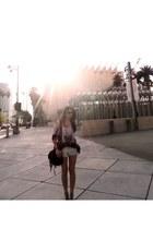 TJ Maxx bag - Forever 21 shorts - Zara top - sam edelman sandals