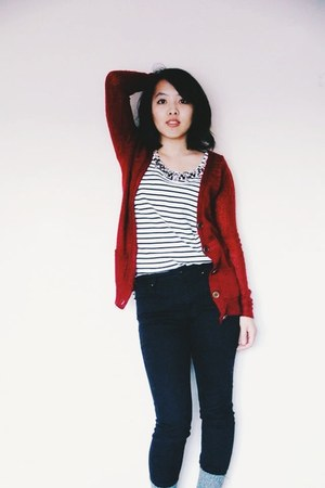 Sox Appeal socks - Jcrew top - PacSun pants - Forever 21 cardigan