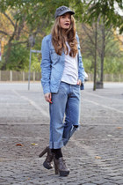 sky blue denim Mango shirt - blue Levis jeans