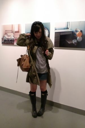 green Zara jacket - black Walmart socks - blue Marc by Marc Jacobs shorts - blue
