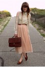 Romwe-blouse-tempt-skirt-bally-loafers