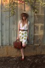 Dotti-hat-bally-loafers-vintage-belt-littlegracie-skirt