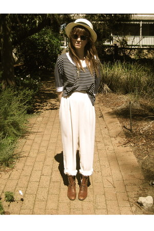 thrifted vintage pants - vintage from Ebay boots - Valleygirl top - Sportsgirl h