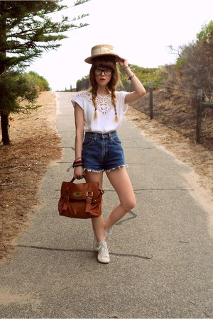 Dotti hat - wildheartsvintageblogspotcom shorts - high tops next sneakers - thri