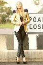 Black-leather-look-fursome-pants-gold-foil-camilla-and-marc-jacket