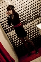 American Apparel dress - American Apparel belt - donna karan tights - Modern Vin