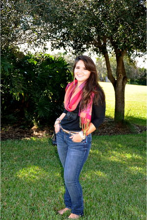 abercrombie and fitch Jeans jeans - scarf scarf - JCrew blouse