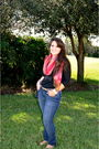 Abercrombie-and-fitch-jeans-jeans-scarf-scarf-jcrew-blouse