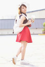 White-eazy-fashion-bag-red-bubbles-skirt-navy-little-turp-top