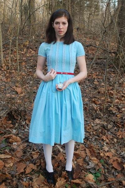 dress - Target tights - belt - wall-mart shoes