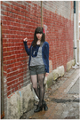 Blue-target-cardigan-blue-modcloth-blouse-gray-shorts-black-stockings-bl