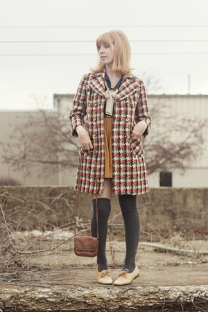 jacket - blouse - skirt - vintage flats