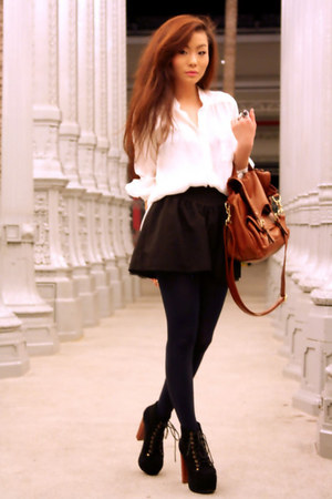 lita Jeffrey Campbell heels - tights tights - vintage white blouse blouse