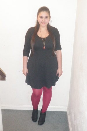 black new look boots - black Dorothy Perkins dress