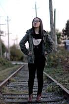 H&M jacket - American Eagle boots - JCrew sweater