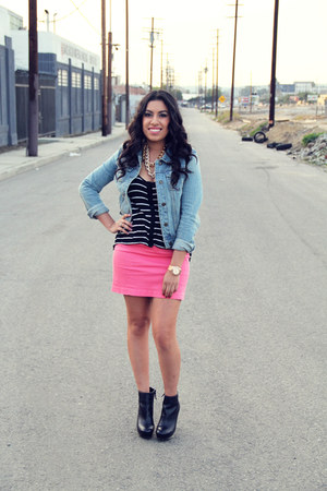 boots - jacket - shirt - skirt