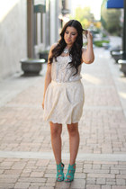 necklace - Kelly Wearstler skirt - Joie blouse - Zara heels