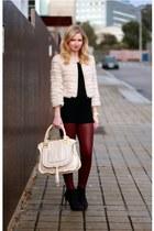 Primark top - Zara boots - fur imperial coat - Forever 21 leggings - Chloe bag