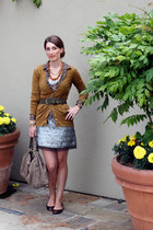 Necessary Objects dress - Josephine Chaus shirt - JCrew cardigan - JCrew flats -