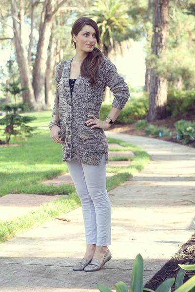 Club Monaco sweater - J Brand jeans - Steve Madden loafers