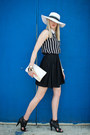 White-black-and-white-walmart-hat-black-full-mossimo-skirt-black-vintage-blo