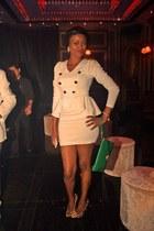 oxygene dress - green Koton purse - animal print Steve Madden heels