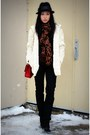 Black-hudson-jeans-red-255-jumbo-chanel-bag-white-club-monaco-cardigan