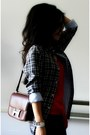 Dark-gray-plaid-club-monaco-shirt-dark-brown-constance-hermes-bag